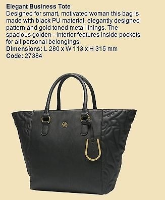 oriflame elegant business tote bag black features